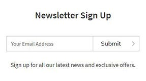 welcome discount explained- newsletter sign up