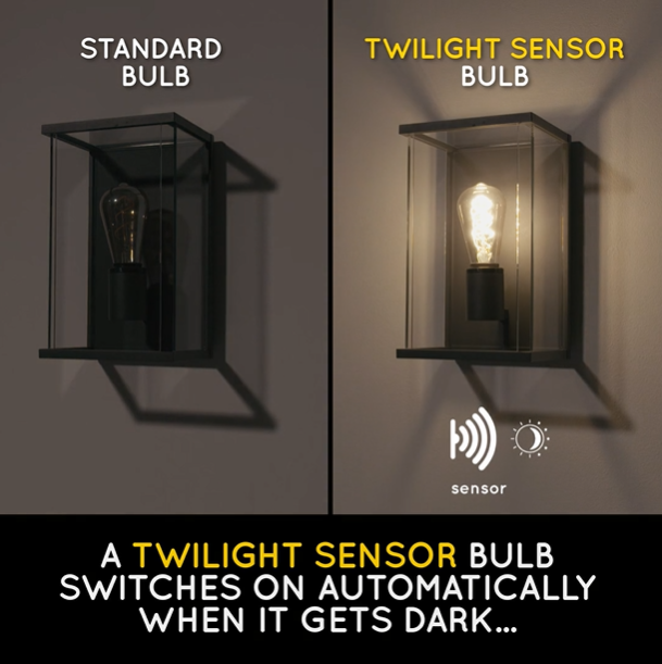 Dusk to dawn sensor bulb - Lucide and Online Lighting